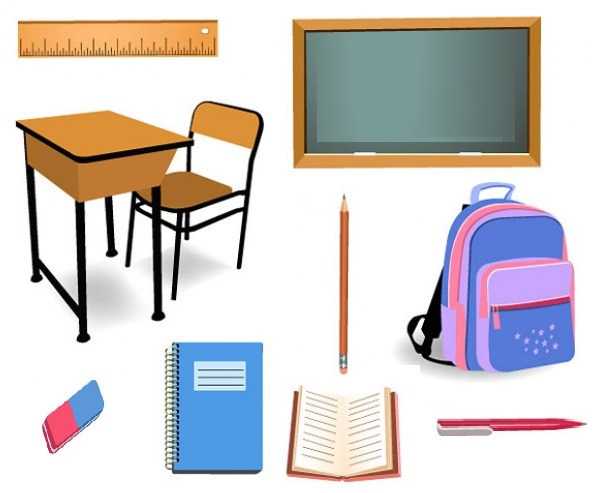 English Exercises School Things
