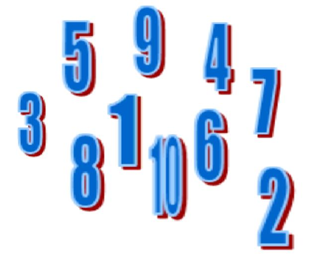 English Exercises: Numbers 1 - 10