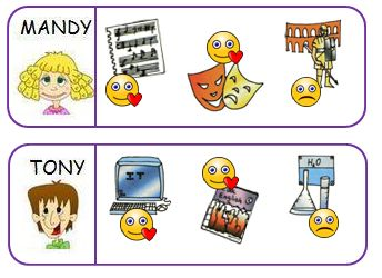 english exercises school subjects