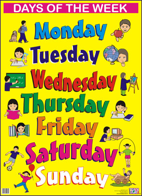 English Exercises: DAYS OF THE WEEK