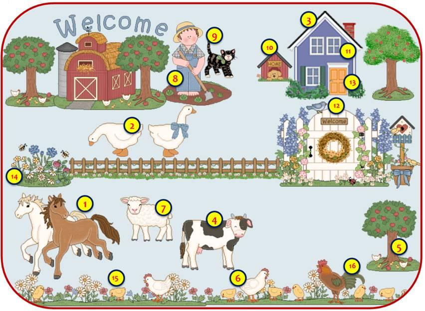 english exercises on the farm