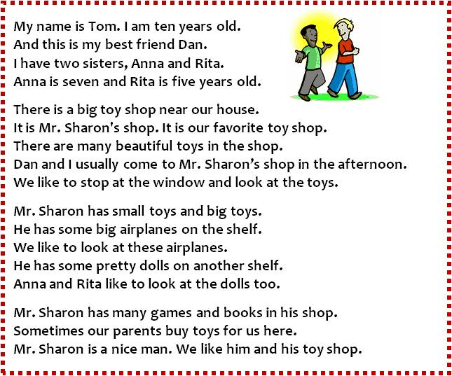 English exercises reading comprehension toys ibookread