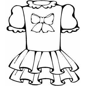 clothes coloring sheet