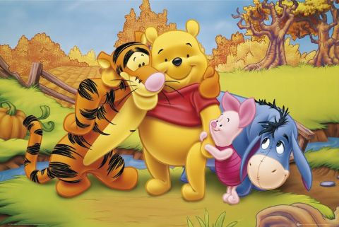 Here you can see what Pooh and his friends are doing through the year.