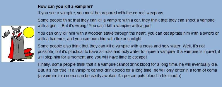 english exercises halloween webquest how to kill a vampire - Halloween Web Quest