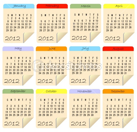 English Exercises: Calendar - Year and Months