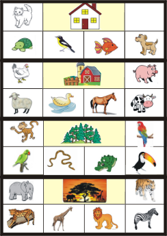 English Exercises: Animals and their habitats