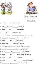 ESL - English Exercises: Using auxillaries