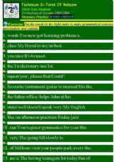 English exercises: Word Order