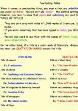 Printables Punctuating Titles Worksheet english exercises punctuation punctuating titles