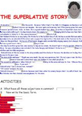 Esl English Exercises The Superlative Story