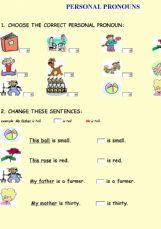 personal pronouns with