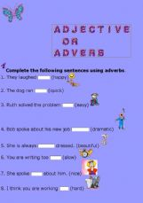 English exercises: the Adverbs
