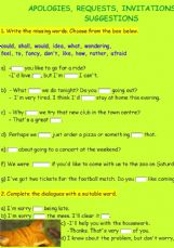 invitations exercises