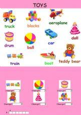 English Exercises The Toys