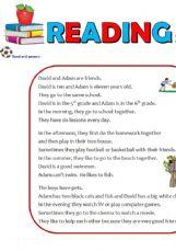 ESL - English Exercises: Reading Comprehension
