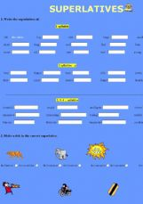 Comparatives Superlative Exercises