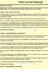 Fables and their meaning