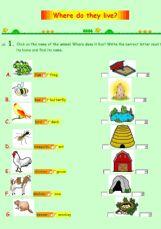 english worksheets the animals worksheets page 9. Black Bedroom Furniture Sets. Home Design Ideas