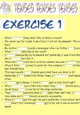 English Exercises 2 Exercises Tenses Active Voice