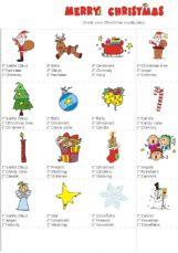 English exercises Christmas