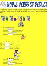 ESL - English Exercises: 15 sentences 3 situations Modal verbs of ...