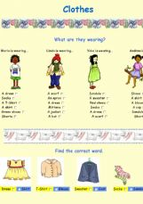 English exercises the clothes clothes ibookread