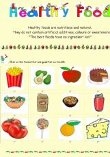 ESL - English Exercises: Healthy Foods