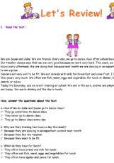 Esl English Exercises Review 6th Grade 6ª