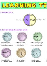 Free esl worksheets telling time